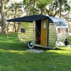 Our first RV looked like this one but it was a 14 ft, VT ..........Vintage trailer