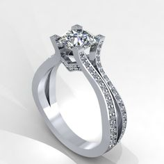 White Gold Diamond Engagement Ring With Lannyte Center Style 75wdly Fabian Diamonds
