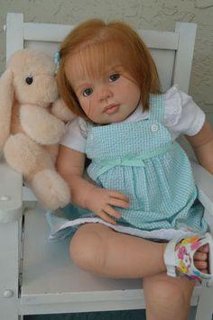 REBORN LOUISA by JANNIE de LANGE TODDLER BABY GIRL ooak fake baby   eBay