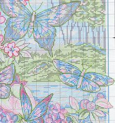 Butterflies, forest, flowers 4