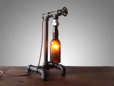 Vintage Industrial Brewery Lamp  Faucet by newwineoldbottles