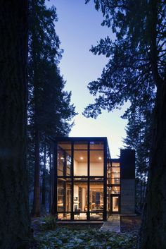 Designed as a home and studio for a photographer and his young family, Lightbox is located on a peninsula that extends south from British Columbia across the border to Point Roberts. The densely-forested site lies beside a 180-acre park that overlooks the Strait of Georgia, the San Juan Islands and the Puget Sound. The home was made decidedly modest, in size and means, with a building skin utilizing simple materials in a straightforward yet innovative configuration. The result is a structure…