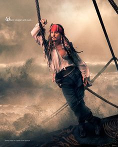 "Johnny Depp - Captain Jack Sparrow, ""Pirates of the Caribbean"" | Annie Leibovitz"