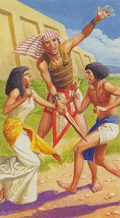 8 d'épées - Ramsès : Tarot de l'éternité par Severino Baraldi