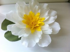 Handmade Paper Water lily by adornflowers on Etsy