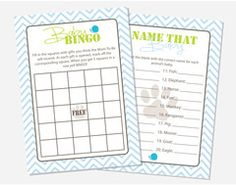 Frogs, Snails & Puppy Dog Tails Baby Shower Games