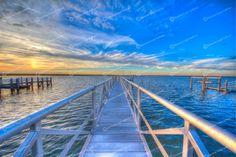 Morning Sunrise Fine Art Print, Gallery Wrap or Magnet – Seascape Photography – Sky Clouds Sun Ocean Bay Sand Beach Coastal Nautical