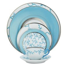Cristobal Turquoise   Love these   $562   5 pc place setting
