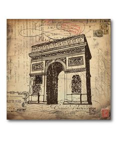 Take a look at this Vintage Paris 2 Stretched Canvas by COURTSIDE MARKET on #zulily today!