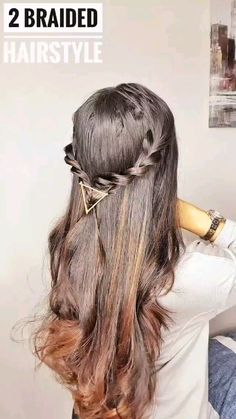 Easy Hairstyles For Long Hair, Summer Hairstyles, Hairstyles With Bangs, Hair Up Styles, Short Hair Styles Easy, Beauty Habits, My Collection, Hair Videos, Hair Highlights