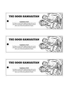 The Good Samaritan Bible Bookmarks: The Good Samaritan is a powerful parable told by the greatest storyteller who ever lived. Your kids are going to want to read it again! Help remind them to flip open Luke 10:25-37 when they get home with this printable Good Samaritan craft.