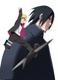 Boruto y sasuke Naruto Kakashi, Anime Naruto, Sarada Uchiha Tumblr, Naruto Gaiden, Naruto Art, Manga Anime, Yamanaka Inojin, Naruto Shippuden Anime, Boruto 2