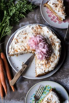 Coconut Carrot Cake Cheesecake - A delicious marriage of carrot and cheese cake that's simple and delicious + perfect for Easter, from halfbakedharvest.com
