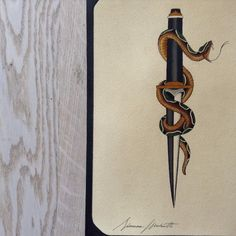 Simone Mariotti electric tattooing | #serpente #snake #pugnale #dagger #traditional...