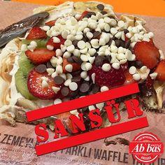 Siz de, fotoğrafını çekmeden önce dayanamayıp waffle'ını yiyenlerden misiniz? #AbbasWaffleAnkara #Sansür