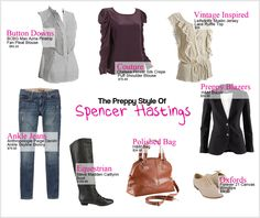 lush luxe lovely: Pretty Little Liars Series: Spencer Hastings Style Guide