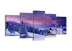 Winter Canvas wall art - 5 Piece - multipanel wall art - home wall art deor Tree Wall Art, Wall Art Decor, Canvas Wall Art, Class Pictures, Silent Night, Nature Decor, Canvas Pictures, Visual Effects, Decoration