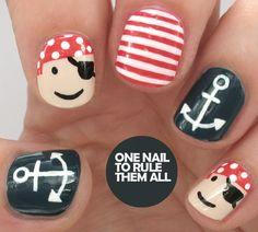 Tutorial Tuesday: Pirate Nautical Nail Art