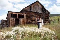 Bride and Groom reveal in front of the old barns. Venue: Keystone Ranch, CO. www.keystoneweddings.com   Photo By: @Kent Meireis   Coordination By: @Distinctive Mountain Events