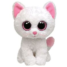 TY Beanie Boos - CASHMERE the White Cat ( Beanie Baby Size - 6 inch )