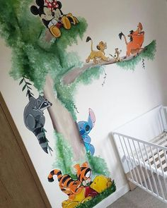 Wandbild / Wandmalerei Kinderzimmer, Kinderzimmer, Babyzimmer Mashup Disney Winnie th . - Best Pins - Wandbild / Wallpainting Kinderzimmer, Kinderzimmer, Babyzimmer Mashup Disney Winnie th … – - Baby Room Boy, Baby Bedroom, Baby Room Decor, Nursery Room, Girl Nursery, Lion King Nursery, Nursery Ideas, Diy Room Ideas, Lion King Room