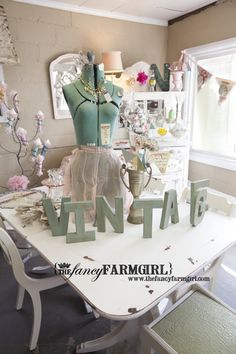 It was so exciting to have the Fancy Farmgirl visit All That Glitter.