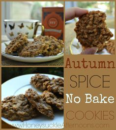 Autumn Spice No Bake Cookies