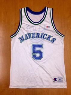 c1b454267 Vintage 1995 - 1998 Jason Kidd Dallas Mavericks Champion Jersey Size 40 hat shirt  mavs rolando