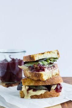 Grilled Turkey, Cambozola and Cranberry Sandiwches