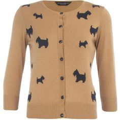 Camel scotty dog cardigan ($19) found on Polyvore..... betsy sure wishes she could get her hands on one of these!!
