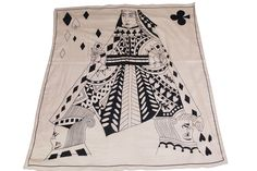Women's Poker King and Queen of Hearts Scarf (Black)  // Unique Holiday Gift Ideas. Fun Trendy Scarves.