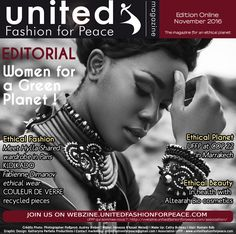 COVER UNITED FASHION FOR PEACE - NOVEMBER 2016 Ethical Fashion, November, Editorial, The Unit, Peace, Engagement, Cover, Fashion Trends, Beauty