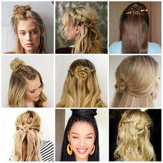 Meio-coque: o penteado do verão | Irmãs Reis