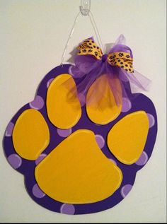 LSU door hanger x by ABsoutherndesigns on Etsy