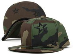 All-Over Star Woodland Camo 59Fifty Fitted Baseball Cap by NEW ERA