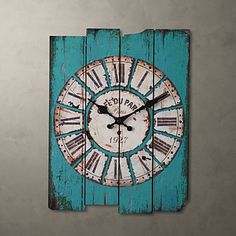 Shawna, not what you are looking for but nice?? Country Style Light Blue Wall Clock – USD $ 39.99