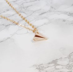 Origami Paper Plane Necklace
