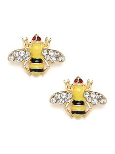 Adorable, charming and oh-so-chic, these stud earrings come shaped liked tiny bees