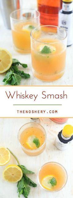 Whiskey Smash | TheNoshery.com - @TheNoshery