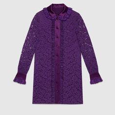 Gucci Cluny lace shirtdress