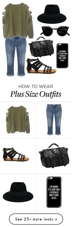 """"""""""" by serratekin on Polyvore featuring Silver Jeans Co., Maison Michel and Casetify"""
