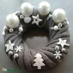 White Christmas, Xmas, Burlap Wreath, Grey And White, Christmas Decorations, Wreaths, Unique, Diy, Google