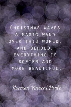 Christmas Quote. What Christmas means to me