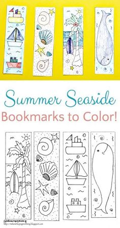Breezy Summer Seaside Bookmark Coloring Page is part of Bookmarks kids - Sweet and breezy, printable summer seaside bookmarks for kids to color The perfect activity to enhance summer reading, whether by the ocean or on the lake Bookmarks Diy Kids, Reading Bookmarks, Free Printable Bookmarks, Bookmark Template, Bookmark Craft, Printable Crafts, Bookmarks To Color, Coloring Pages For Teenagers, Summer Coloring Pages
