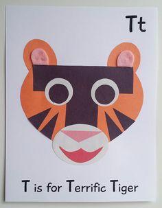 Alphabet Printable Craft Pack for Preschoolers — My Preschool Plan Letter T Activities, Preschool Letter Crafts, Alphabet Letter Crafts, Abc Crafts, Preschool Art Activities, Classroom Art Projects, Creative Teaching, Kindergartens, Worksheets