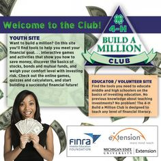 Are you looking for materials to teach personal finance to your students? Check out the 4-H Build A Million program in eXtension.