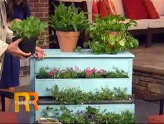 DIY garden dresser