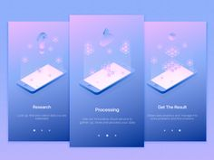 Hello! What's up? These are three illustrations I've created for onboarding cards for iOS application, that helps user to search, collect, store and analyse any kind of data that is interesting for...