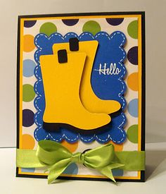 Such great colors! I wonder if I have rainboots on my Cricut?