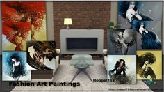 Sims 4 CC's - The Best: Fashion Art Paintings by Hoppel785